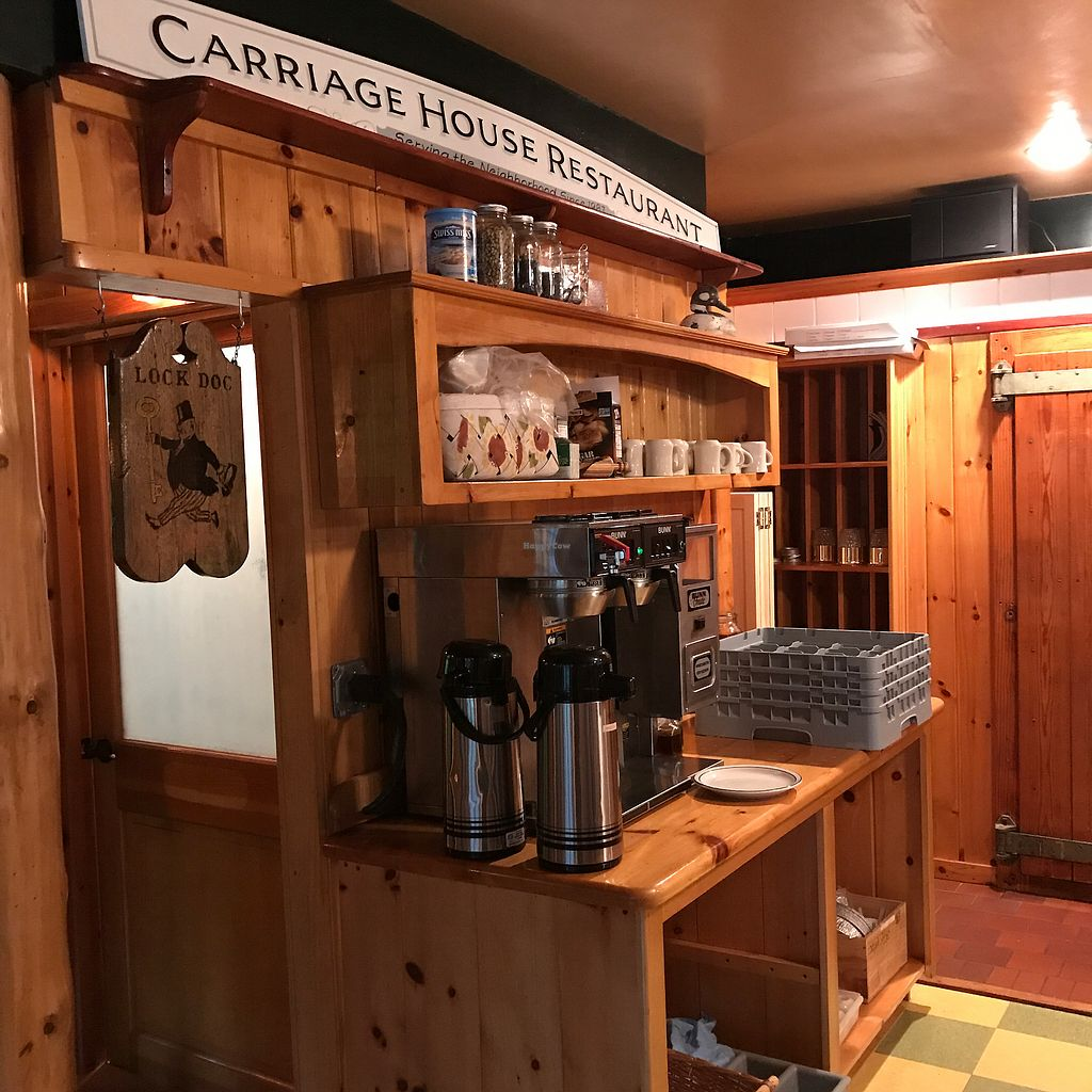 "Photo of Carriage House Restaurant  by <a href=""/members/profile/Sarah%20P"">Sarah P</a> <br/>coffee <br/> July 2, 2017  - <a href='/contact/abuse/image/94083/276040'>Report</a>"