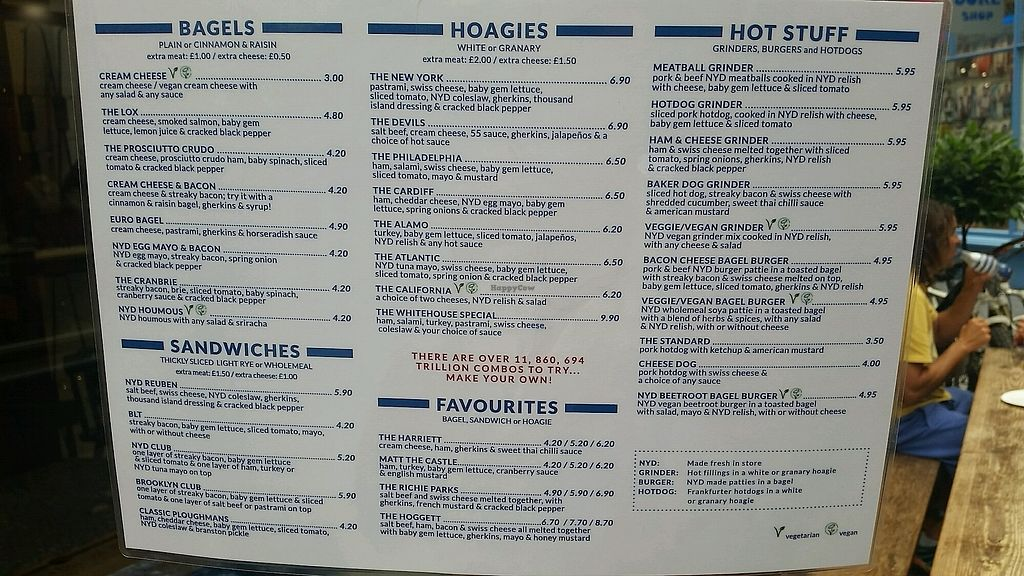 "Photo of New York Deli  by <a href=""/members/profile/konlish"">konlish</a> <br/>Menu with 5 Vegan options  <br/> July 15, 2017  - <a href='/contact/abuse/image/94094/280628'>Report</a>"