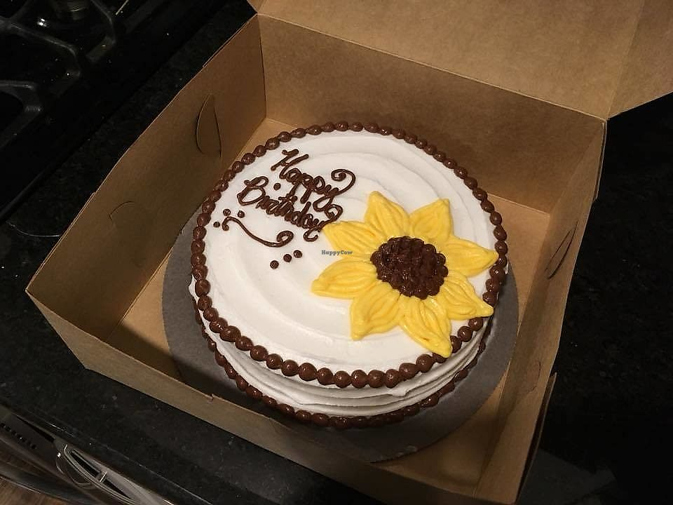 "Photo of Raegamuffin's Gluten Free Bakery  by <a href=""/members/profile/TheMaineVegan"">TheMaineVegan</a> <br/>Vegan Birthday Cake!  <br/> September 30, 2017  - <a href='/contact/abuse/image/94129/310214'>Report</a>"