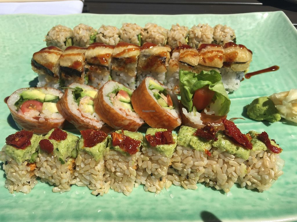 "Photo of Blue Sushi Sake Grill  by <a href=""/members/profile/roblindsey"">roblindsey</a> <br/>4 of the vegan rolls off the vegan menu    <br/> August 5, 2017  - <a href='/contact/abuse/image/94146/289418'>Report</a>"