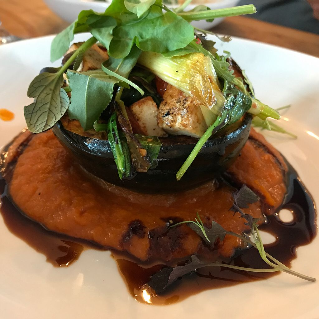 """Photo of Harborside Tavern  by <a href=""""/members/profile/Sarah%20P"""">Sarah P</a> <br/>vegan squash entree <br/> July 24, 2017  - <a href='/contact/abuse/image/94178/284267'>Report</a>"""