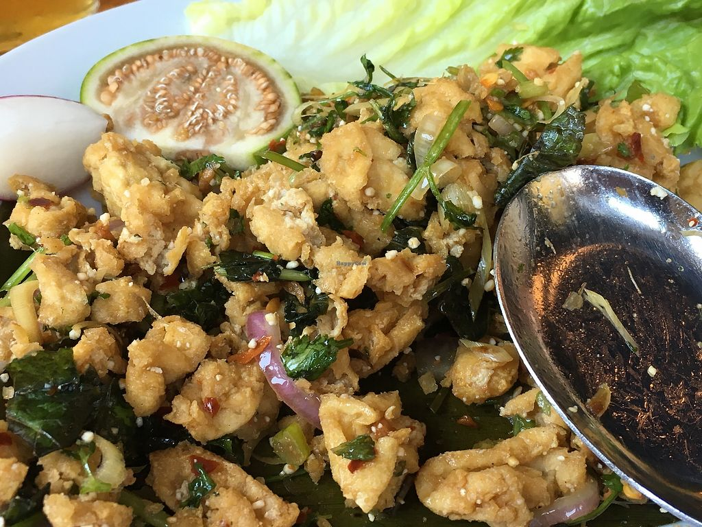 "Photo of Thip Khao  by <a href=""/members/profile/cookiem"">cookiem</a> <br/>Tofu salad <br/> June 21, 2017  - <a href='/contact/abuse/image/94182/271980'>Report</a>"