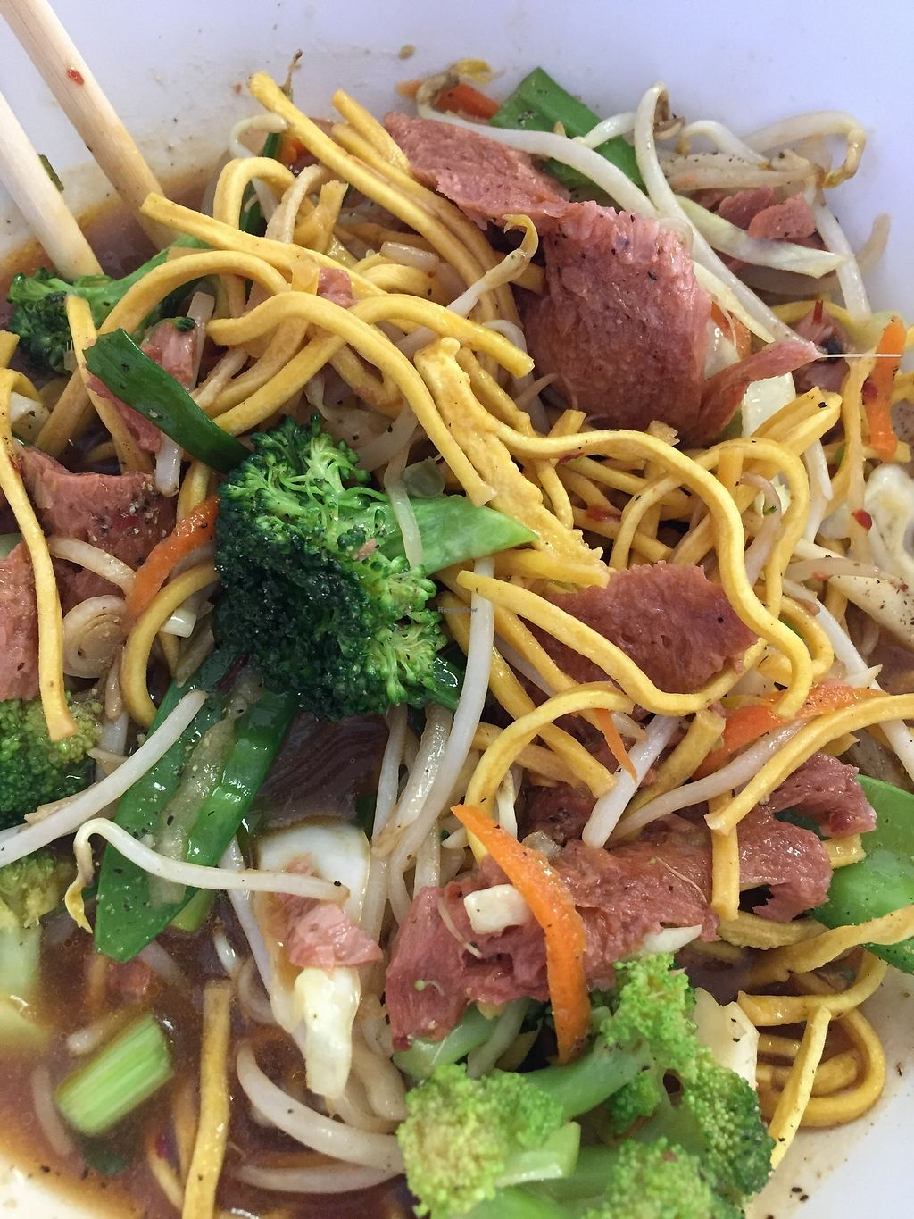 "Photo of BobaTea Garden  by <a href=""/members/profile/Suz"">Suz</a> <br/>#106 Crispy Chow-Mein with Roasted ""Chicken"" and Vegetables (quotes are mine) <br/> June 22, 2017  - <a href='/contact/abuse/image/94188/272087'>Report</a>"