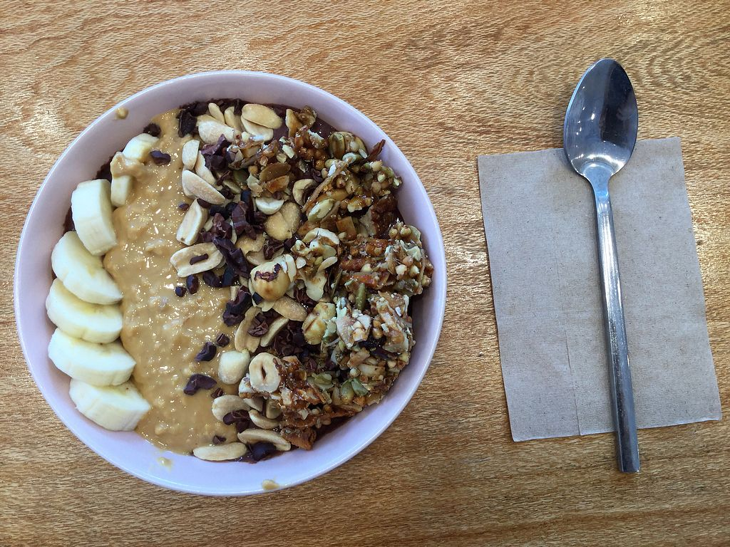 """Photo of Nutri Hitt  by <a href=""""/members/profile/Mike%20Munsie"""">Mike Munsie</a> <br/>peanut butter açai bowl <br/> October 6, 2017  - <a href='/contact/abuse/image/94197/312173'>Report</a>"""