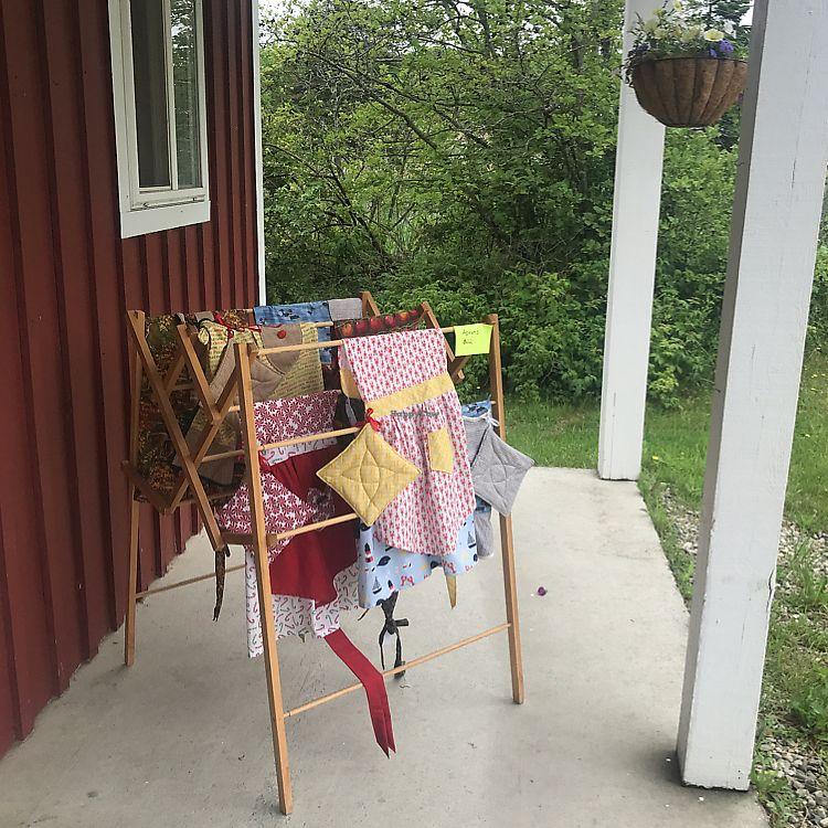 """Photo of Brown's Farm Stand  by <a href=""""/members/profile/Sarah%20P"""">Sarah P</a> <br/>aprons for sale <br/> June 17, 2017  - <a href='/contact/abuse/image/94233/270185'>Report</a>"""