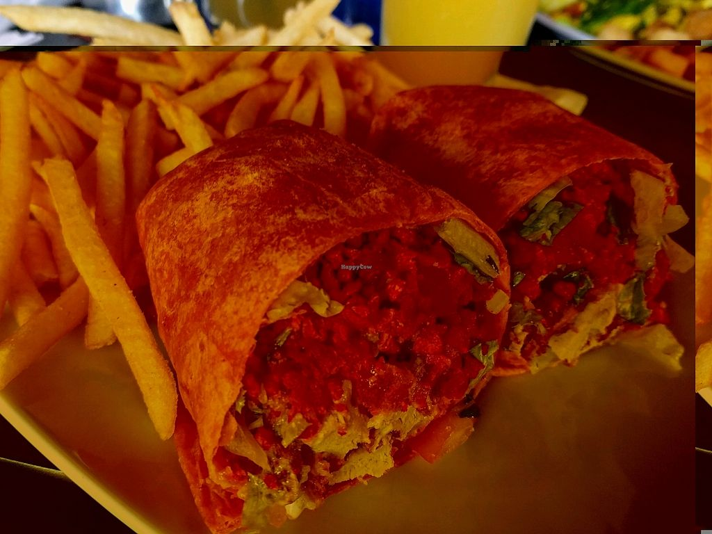 """Photo of Harvey's  by <a href=""""/members/profile/The%20Hungry%20Vegan"""">The Hungry Vegan</a> <br/>Vegan Ranch Wrap <br/> September 3, 2017  - <a href='/contact/abuse/image/94247/300614'>Report</a>"""