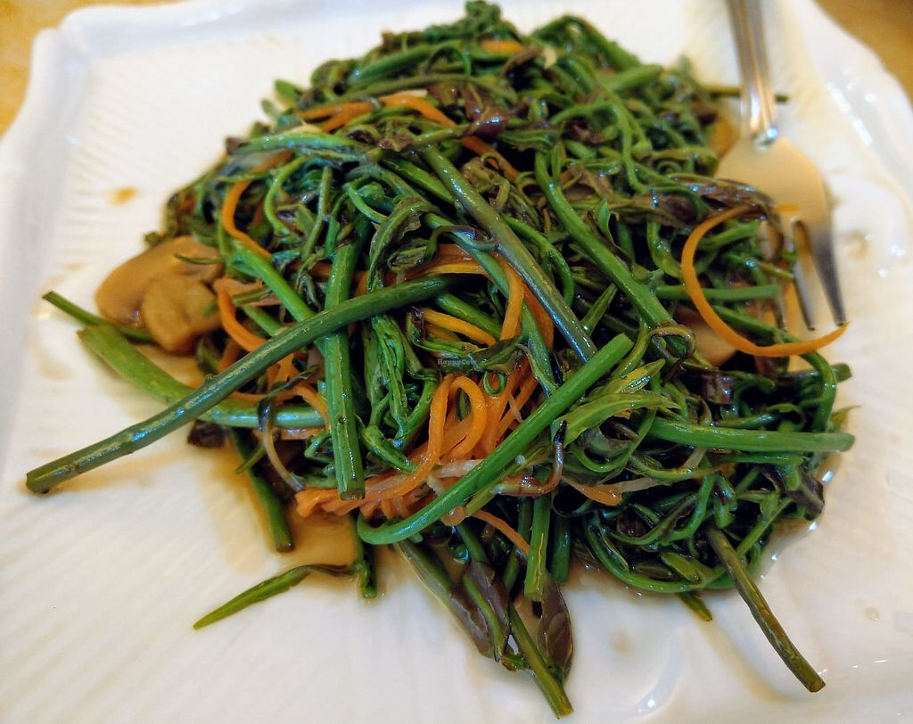"""Photo of Thank Food Vegetarian  by <a href=""""/members/profile/PennyPenLim"""">PennyPenLim</a> <br/>Stir fry midin <br/> April 23, 2018  - <a href='/contact/abuse/image/9424/389748'>Report</a>"""