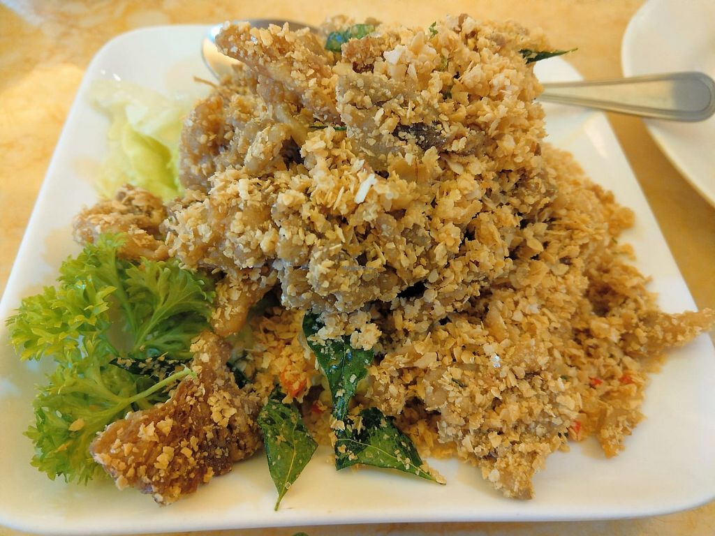 """Photo of Thank Food Vegetarian  by <a href=""""/members/profile/PennyPenLim"""">PennyPenLim</a> <br/>Fried cereal abalone mushrooms <br/> April 23, 2018  - <a href='/contact/abuse/image/9424/389751'>Report</a>"""