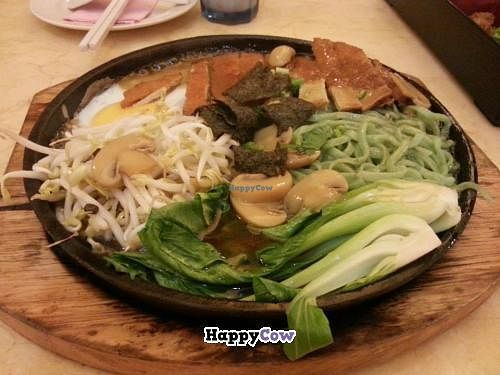 """Photo of Thank Food Vegetarian  by <a href=""""/members/profile/Khoo"""">Khoo</a> <br/>Hotplate mock grilled fish noodle <br/> July 3, 2013  - <a href='/contact/abuse/image/9424/50643'>Report</a>"""