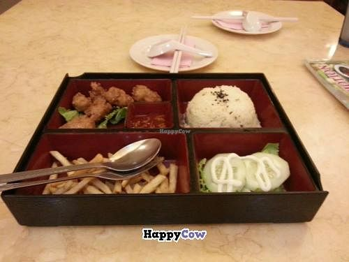 """Photo of Thank Food Vegetarian  by <a href=""""/members/profile/Khoo"""">Khoo</a> <br/>Mock chicken rice set meal <br/> July 3, 2013  - <a href='/contact/abuse/image/9424/50644'>Report</a>"""