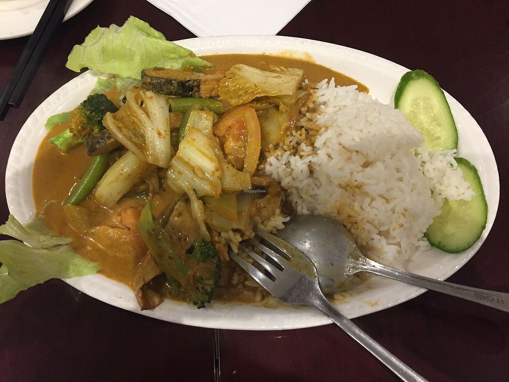 "Photo of Vegie Kitchen  by <a href=""/members/profile/ChiamLongThiam"">ChiamLongThiam</a> <br/>Curry mock fish rice <br/> August 15, 2017  - <a href='/contact/abuse/image/94258/292922'>Report</a>"
