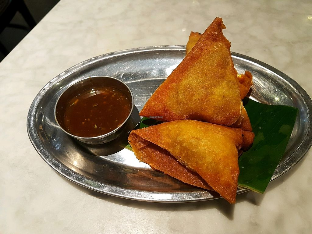 """Photo of Rangoon Tea House  by <a href=""""/members/profile/PeterRichards"""">PeterRichards</a> <br/>potato samosa <br/> October 22, 2017  - <a href='/contact/abuse/image/94268/317550'>Report</a>"""