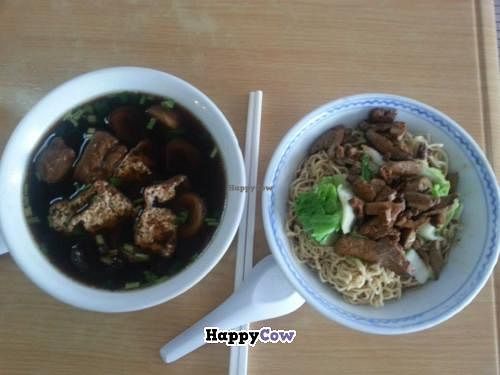 """Photo of Zhun San Yen Vegetarian  by <a href=""""/members/profile/Khoo"""">Khoo</a> <br/>Vege gui chap (left), Kolo mee (right) <br/> July 3, 2013  - <a href='/contact/abuse/image/9428/50641'>Report</a>"""