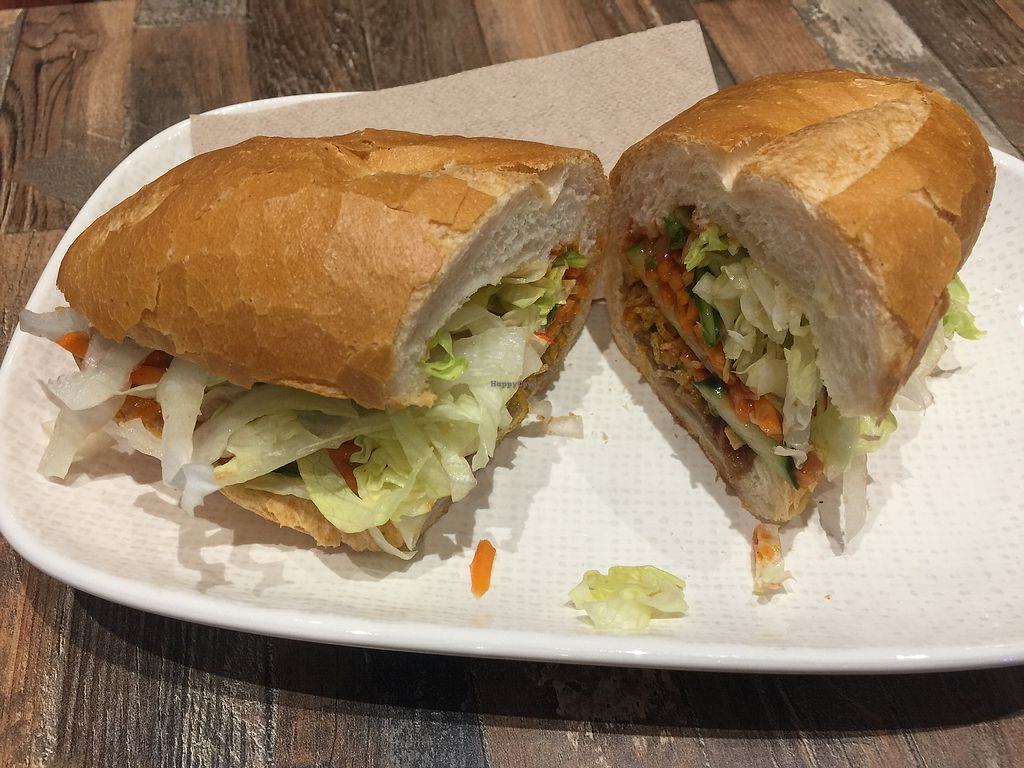 """Photo of Olivia Spring Cafe  by <a href=""""/members/profile/Tiggy"""">Tiggy</a> <br/>Vegan pork banh mi $7 <br/> October 21, 2017  - <a href='/contact/abuse/image/94297/317155'>Report</a>"""