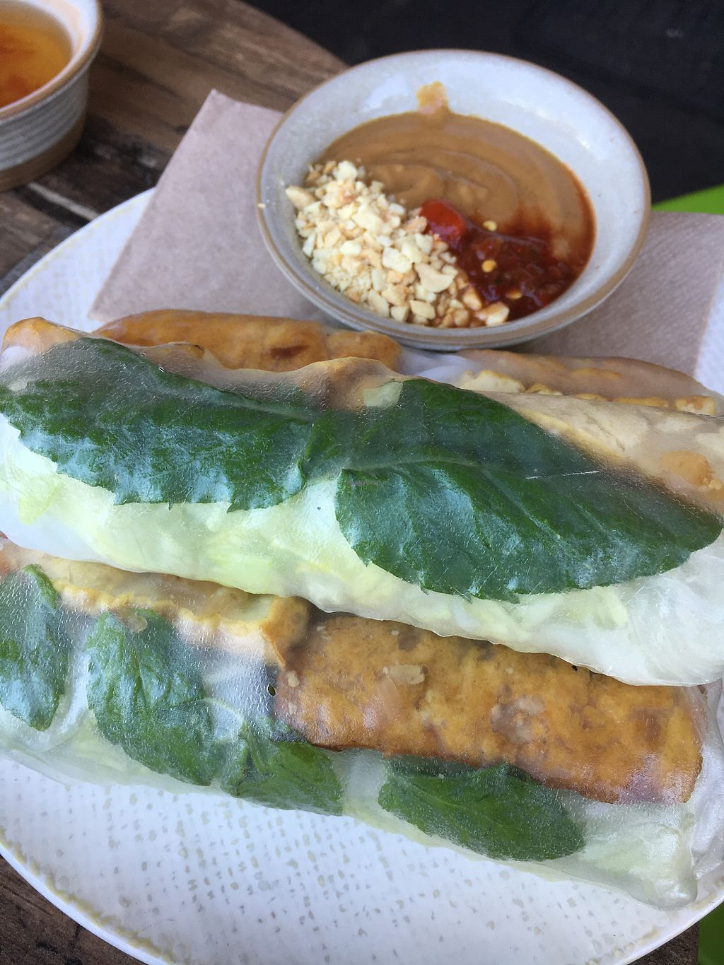 """Photo of Olivia Spring Cafe  by <a href=""""/members/profile/VeganBec"""">VeganBec</a> <br/>Rice Paper Rolls <br/> January 17, 2018  - <a href='/contact/abuse/image/94297/347414'>Report</a>"""