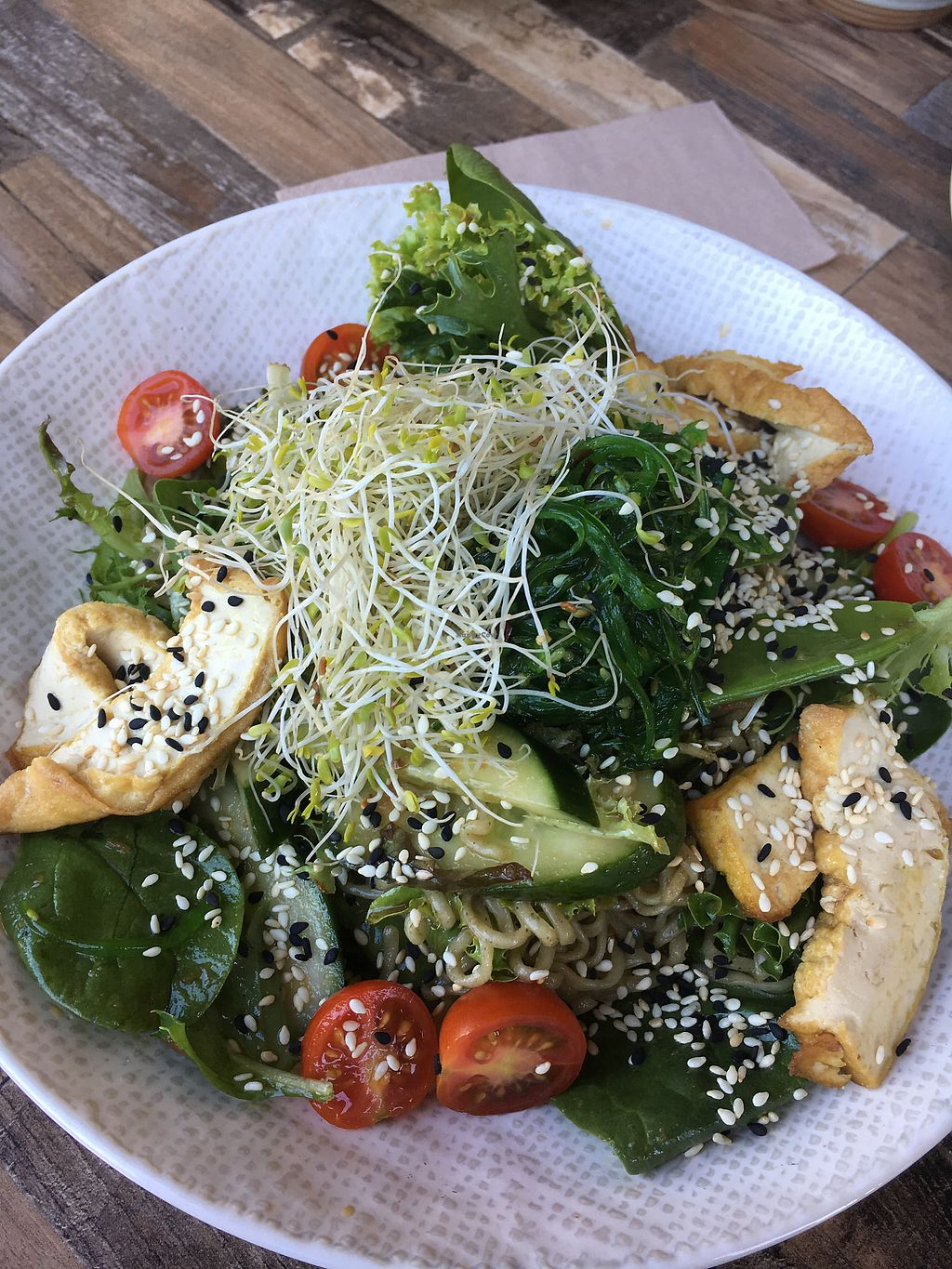 """Photo of Olivia Spring Cafe  by <a href=""""/members/profile/VeganBec"""">VeganBec</a> <br/>Umami Egyptian Bowl <br/> January 17, 2018  - <a href='/contact/abuse/image/94297/347415'>Report</a>"""