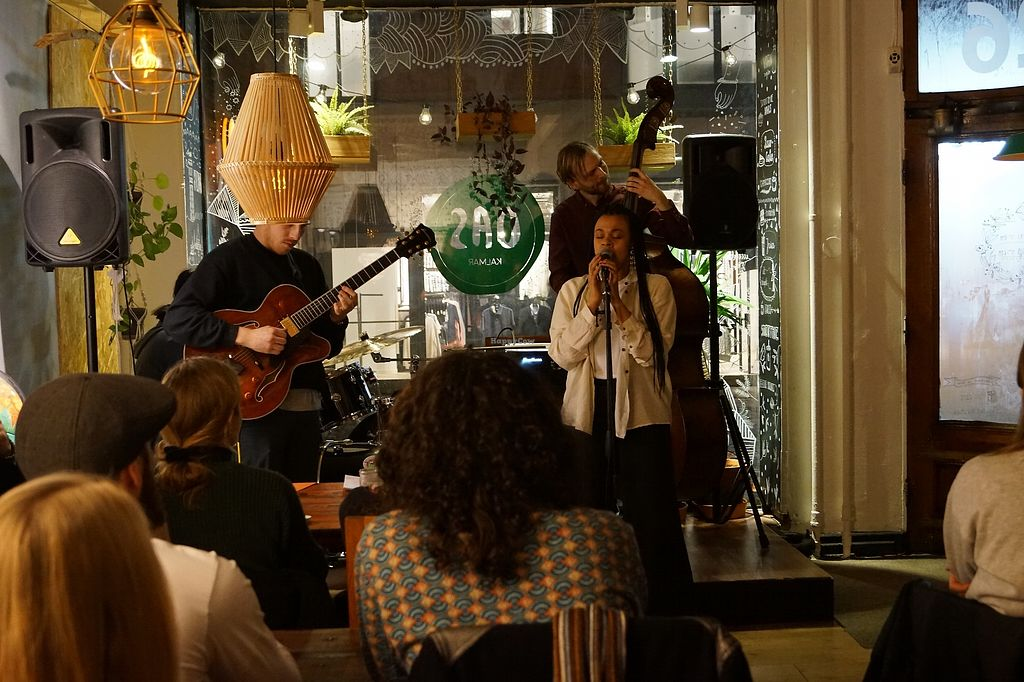 """Photo of OAS Cafe  by <a href=""""/members/profile/RabeaHerzbub"""">RabeaHerzbub</a> <br/>live music... jazz evening at OAS  <br/> March 16, 2018  - <a href='/contact/abuse/image/94304/371324'>Report</a>"""