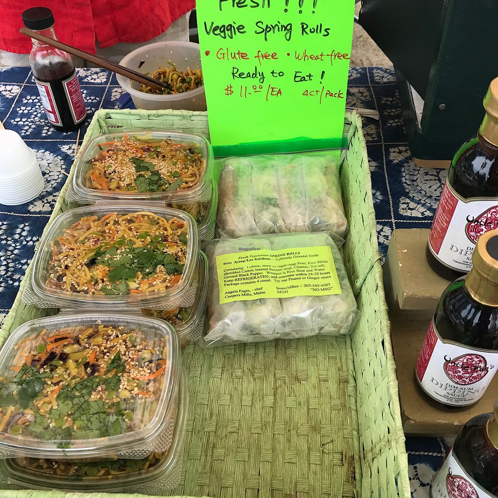 """Photo of Thursday Farmers Market  by <a href=""""/members/profile/Sarah%20P"""">Sarah P</a> <br/>vegan Chinese takeaway <br/> July 2, 2017  - <a href='/contact/abuse/image/94314/276008'>Report</a>"""