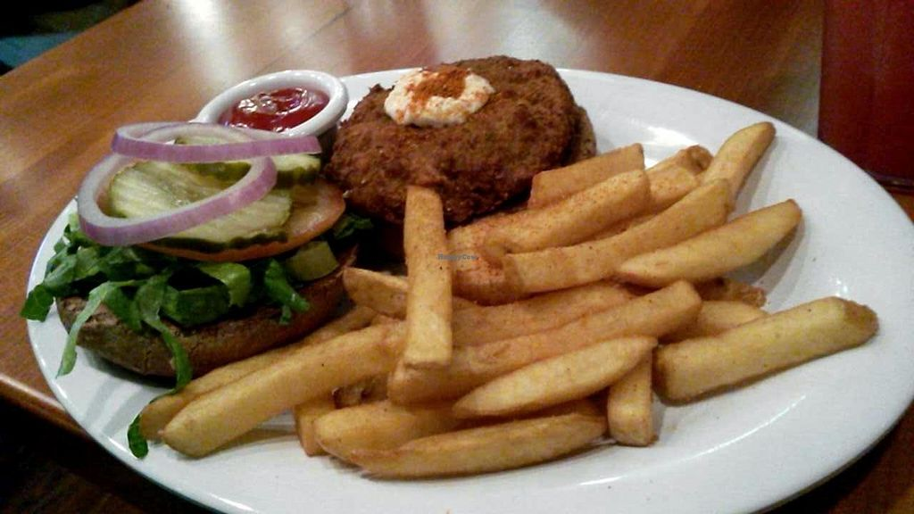 """Photo of Veggie Grill - University Center  by <a href=""""/members/profile/LiilyPadd"""">LiilyPadd</a> <br/>Crab cake burger <br/> February 2, 2015  - <a href='/contact/abuse/image/9434/92009'>Report</a>"""