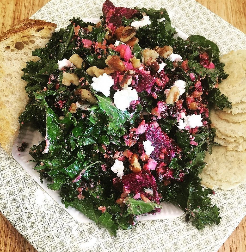 "Photo of The Wise Owl Cafe  by <a href=""/members/profile/Jpp14wdstk"">Jpp14wdstk</a> <br/>Kale salad  <br/> June 19, 2017  - <a href='/contact/abuse/image/94361/270714'>Report</a>"