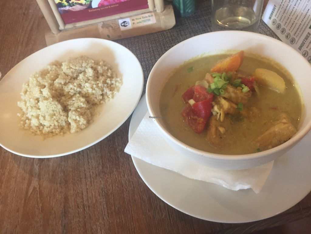 """Photo of Zula Vegetarian Paradise  by <a href=""""/members/profile/NinetteHansson"""">NinetteHansson</a> <br/>tempeh and quinoa dish <br/> May 10, 2017  - <a href='/contact/abuse/image/9439/257595'>Report</a>"""