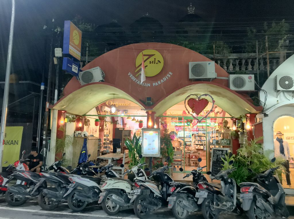 """Photo of Zula Vegetarian Paradise  by <a href=""""/members/profile/cybird123"""">cybird123</a> <br/>zula store front, """"you arrived""""! <br/> February 16, 2018  - <a href='/contact/abuse/image/9439/359940'>Report</a>"""