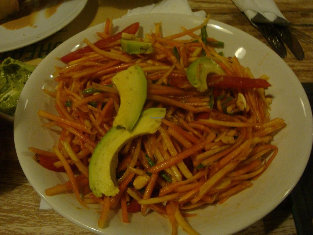 """Photo of Zula Vegetarian Paradise  by <a href=""""/members/profile/Sonja%20and%20Dirk"""">Sonja and Dirk</a> <br/>papaya salad <br/> June 12, 2014  - <a href='/contact/abuse/image/9439/71928'>Report</a>"""