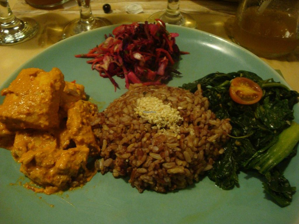 """Photo of Zula Vegetarian Paradise  by <a href=""""/members/profile/Sonja%20and%20Dirk"""">Sonja and Dirk</a> <br/>tempeh, kale and rice <br/> June 12, 2014  - <a href='/contact/abuse/image/9439/71929'>Report</a>"""