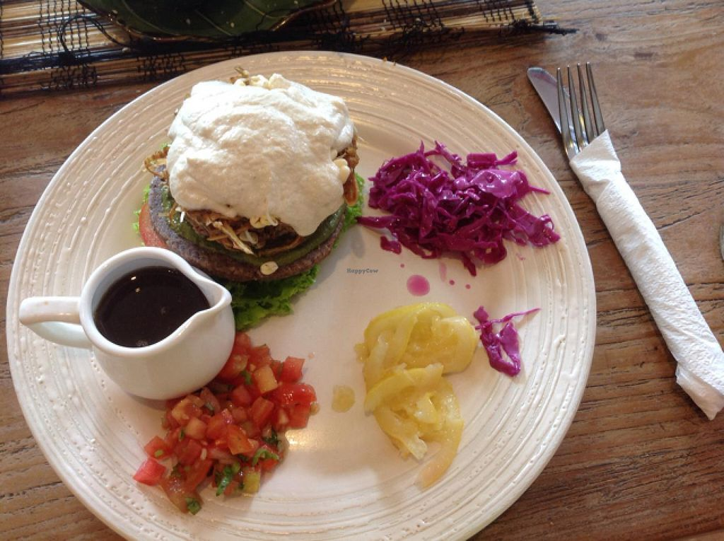 """Photo of Zula Vegetarian Paradise  by <a href=""""/members/profile/SarahHunt"""">SarahHunt</a> <br/>raw vegan burger - yum! <br/> March 16, 2015  - <a href='/contact/abuse/image/9439/95832'>Report</a>"""