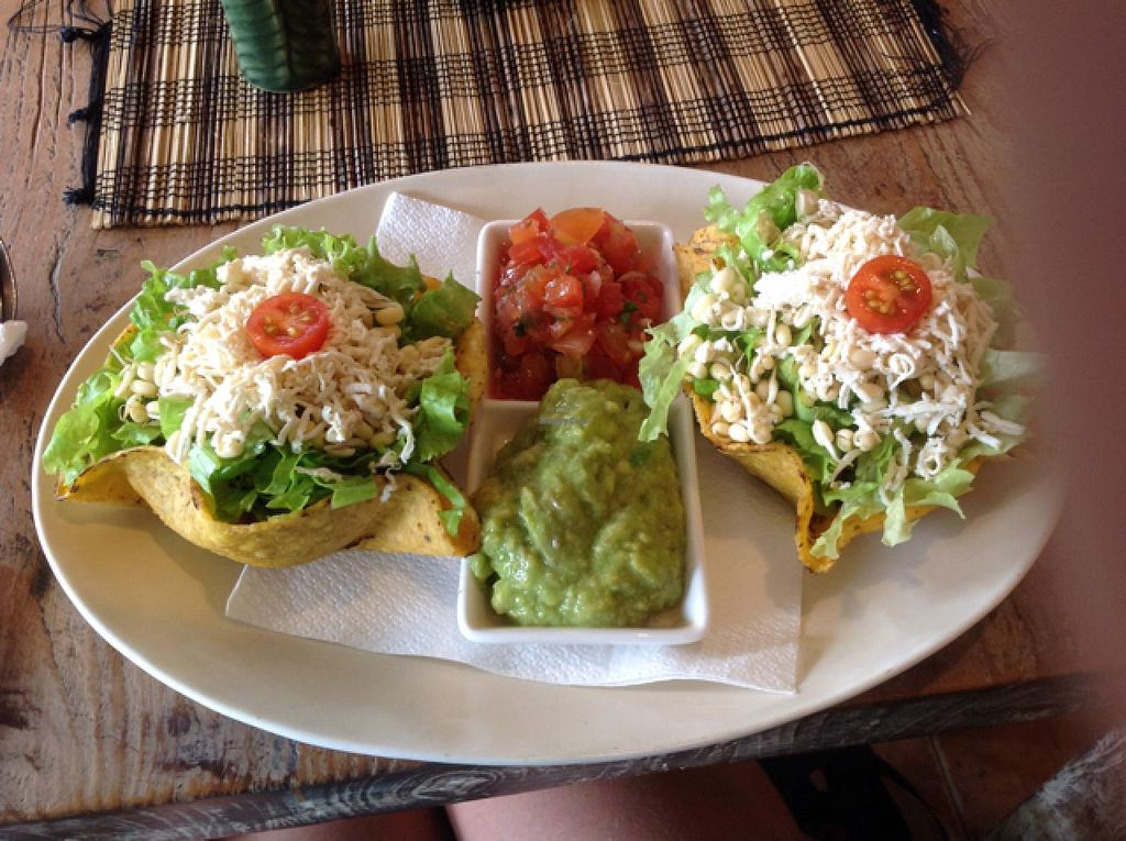 """Photo of Zula Vegetarian Paradise  by <a href=""""/members/profile/SarahHunt"""">SarahHunt</a> <br/>vegan tacos <br/> March 16, 2015  - <a href='/contact/abuse/image/9439/95833'>Report</a>"""