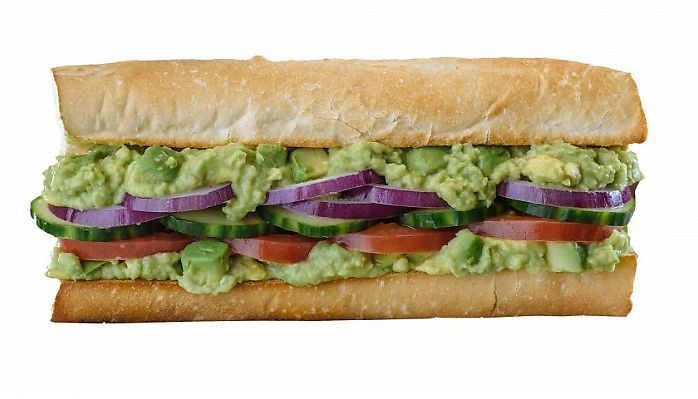 """Photo of Which Wich  by <a href=""""/members/profile/MelodyVeganJoy"""">MelodyVeganJoy</a> <br/>Go green with everyone's favorite Fresh vegan avocado, plus your choice of over 40 different topping options <br/> April 5, 2018  - <a href='/contact/abuse/image/94421/381336'>Report</a>"""