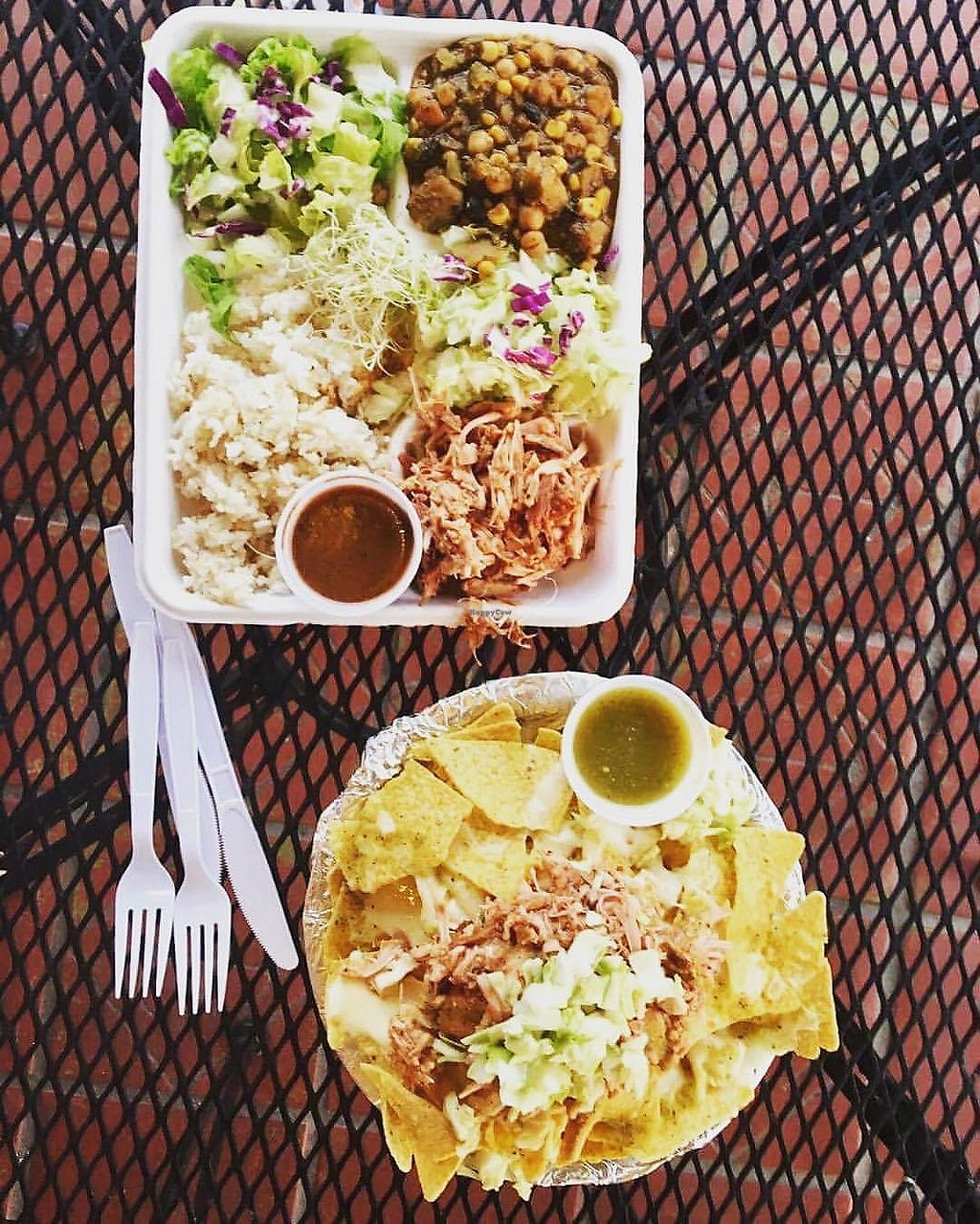 """Photo of Loko Wraps  by <a href=""""/members/profile/jlideik%40gmail.com"""">jlideik@gmail.com</a> <br/>Hot plate with coconut rice, pineapple coleslaw, jackfruit bbq, salad greens and hot lava sauce (sweet chili).  <br/> July 3, 2017  - <a href='/contact/abuse/image/94430/276429'>Report</a>"""