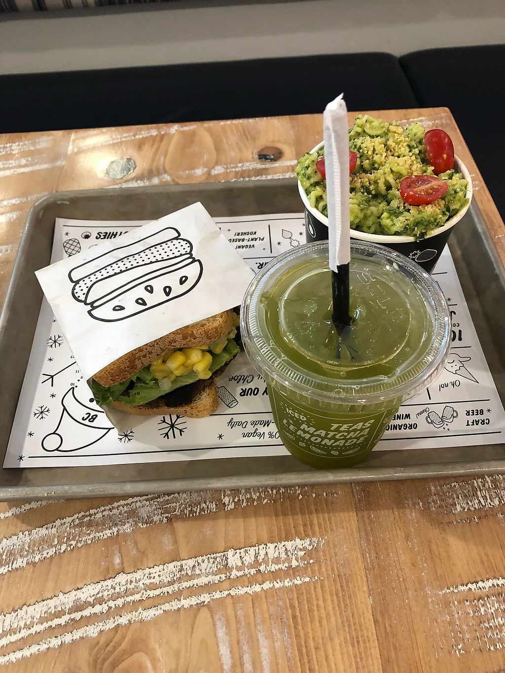 "Photo of By Chloe - Fenway  by <a href=""/members/profile/alisonwaskelis"">alisonwaskelis</a> <br/>guac burger, avocado pesto pasta and lemonade! <br/> March 30, 2018  - <a href='/contact/abuse/image/94435/378498'>Report</a>"