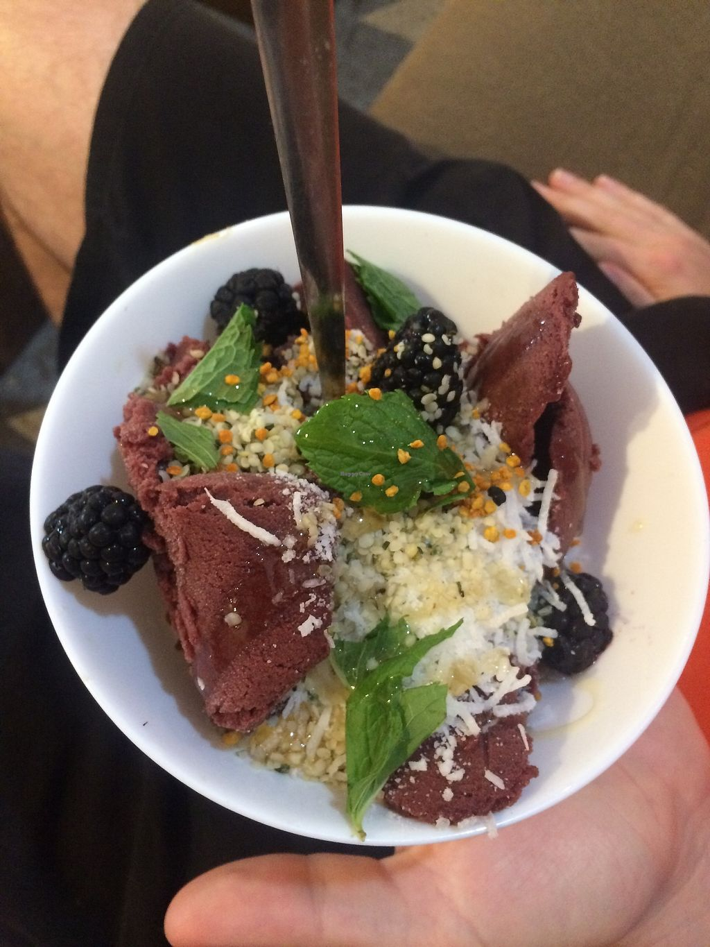 """Photo of The Nest  by <a href=""""/members/profile/fullbellyhappyheart"""">fullbellyhappyheart</a> <br/>Acai bowl with fresh berries, coconut, and hemp granola <br/> June 20, 2017  - <a href='/contact/abuse/image/94437/271493'>Report</a>"""