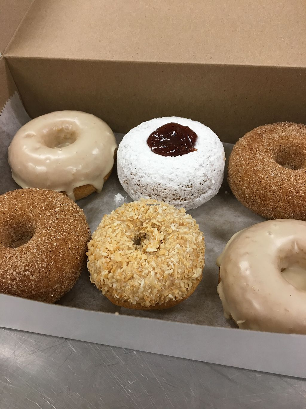 """Photo of The Wooden Spoon Bakery  by <a href=""""/members/profile/Jessica.aziz"""">Jessica.aziz</a> <br/>assorted vegan gf donuts  <br/> July 2, 2017  - <a href='/contact/abuse/image/94470/275806'>Report</a>"""