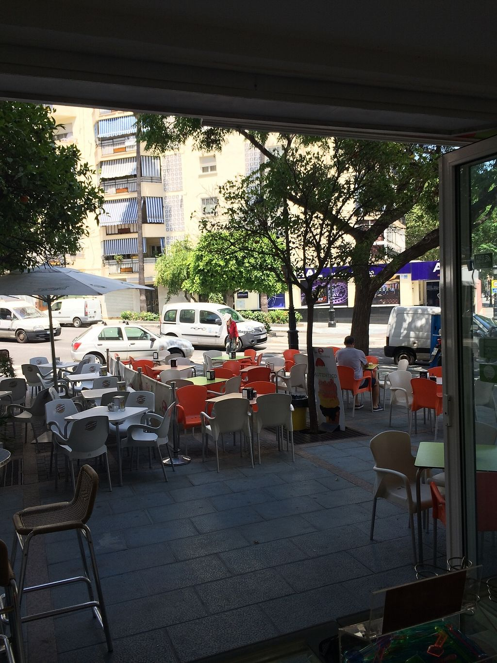"""Photo of Fresca Passione Heladeria  by <a href=""""/members/profile/pauletam"""">pauletam</a> <br/>Outside tables <br/> June 23, 2017  - <a href='/contact/abuse/image/94479/272485'>Report</a>"""