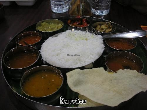 "Photo of Sangeetha  by <a href=""/members/profile/Ashni"">Ashni</a> <br/>Quick meal - South Indian thali (only RM10) <br/> May 6, 2013  - <a href='/contact/abuse/image/9448/47856'>Report</a>"