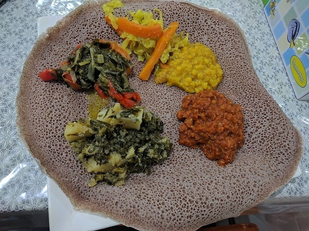 "Photo of Abyssina Ethiopian Restaurant  by <a href=""/members/profile/VeganSoapDude"">VeganSoapDude</a> <br/>Vegan platter for one  <br/> June 21, 2017  - <a href='/contact/abuse/image/94504/271962'>Report</a>"