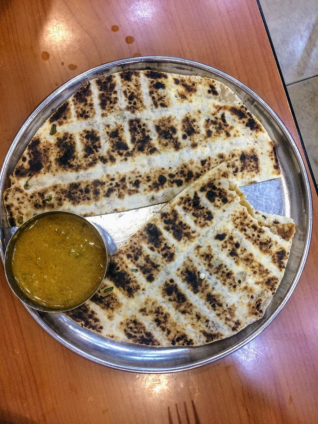 """Photo of Bakti Woodlands Vegetarian Food Cafe  by <a href=""""/members/profile/LaurenceMontreuil"""">LaurenceMontreuil</a> <br/>Aloo paratha <br/> February 19, 2018  - <a href='/contact/abuse/image/9451/361306'>Report</a>"""