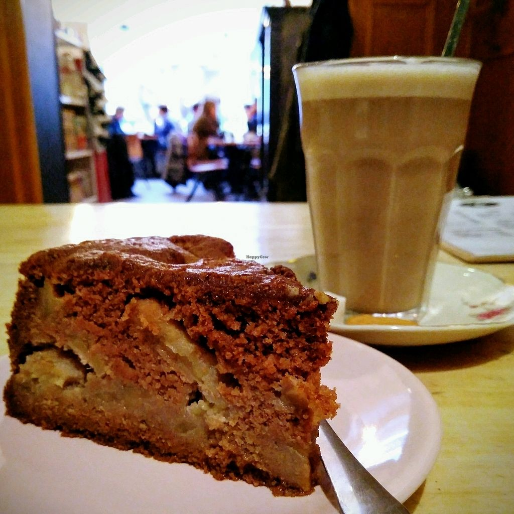 """Photo of Sultans  by <a href=""""/members/profile/Zjef"""">Zjef</a> <br/>Gluten-free apple cinnamon cake. Judging by the smokey taste, I would think it's made with buckwheat. Pairs nicely with a chai latte (I chose oat milk, but they also have other options) <br/> November 18, 2017  - <a href='/contact/abuse/image/94520/326671'>Report</a>"""