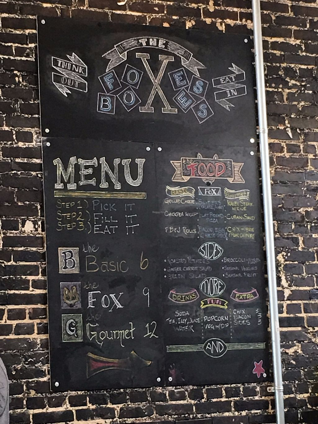 """Photo of The Foxes Boxes  by <a href=""""/members/profile/TraciH"""">TraciH</a> <br/>Menu Board <br/> November 13, 2017  - <a href='/contact/abuse/image/94534/325279'>Report</a>"""