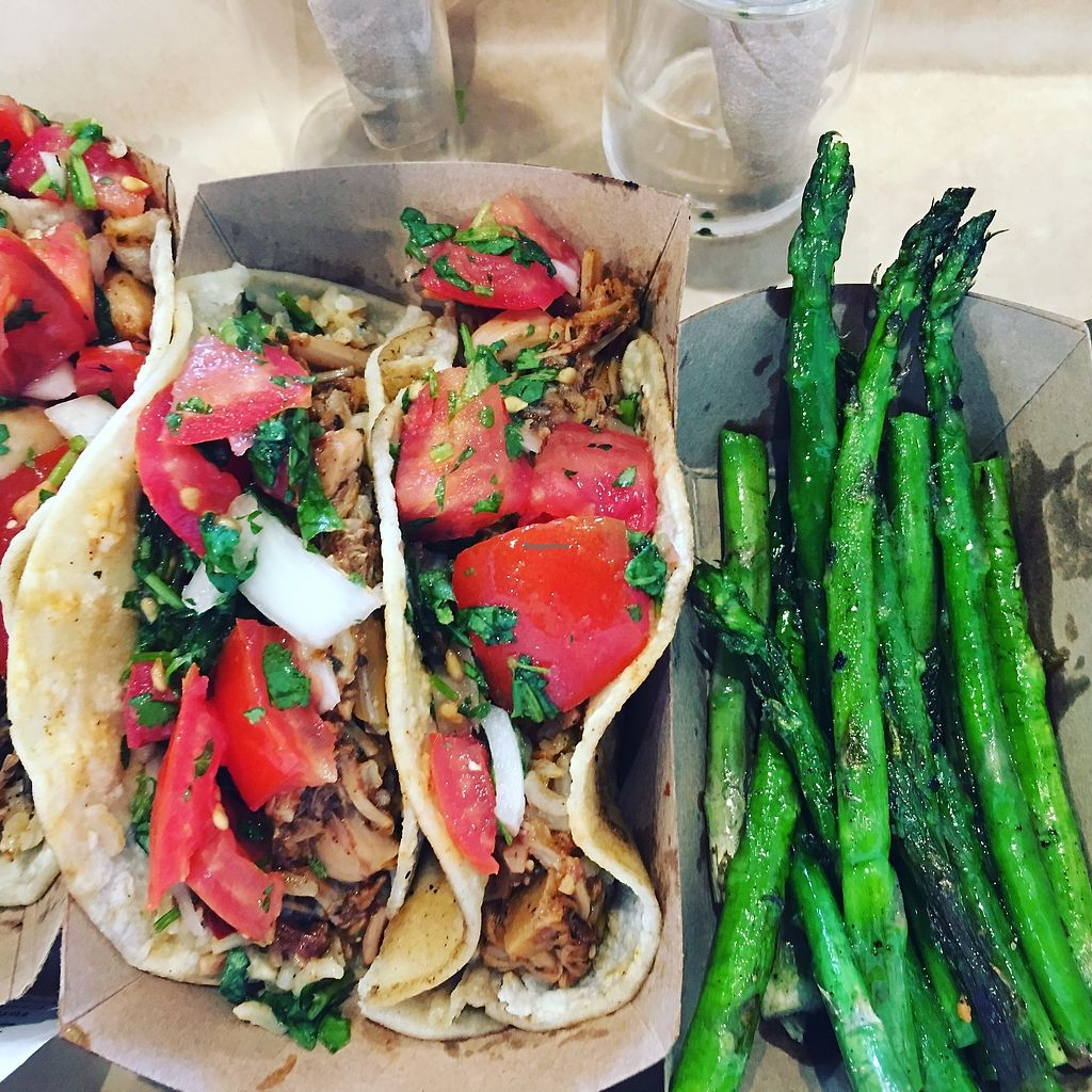 """Photo of The Foxes Boxes  by <a href=""""/members/profile/TraciH"""">TraciH</a> <br/>BBQ Jackfruit Tacos and Asparagus <br/> November 13, 2017  - <a href='/contact/abuse/image/94534/325282'>Report</a>"""
