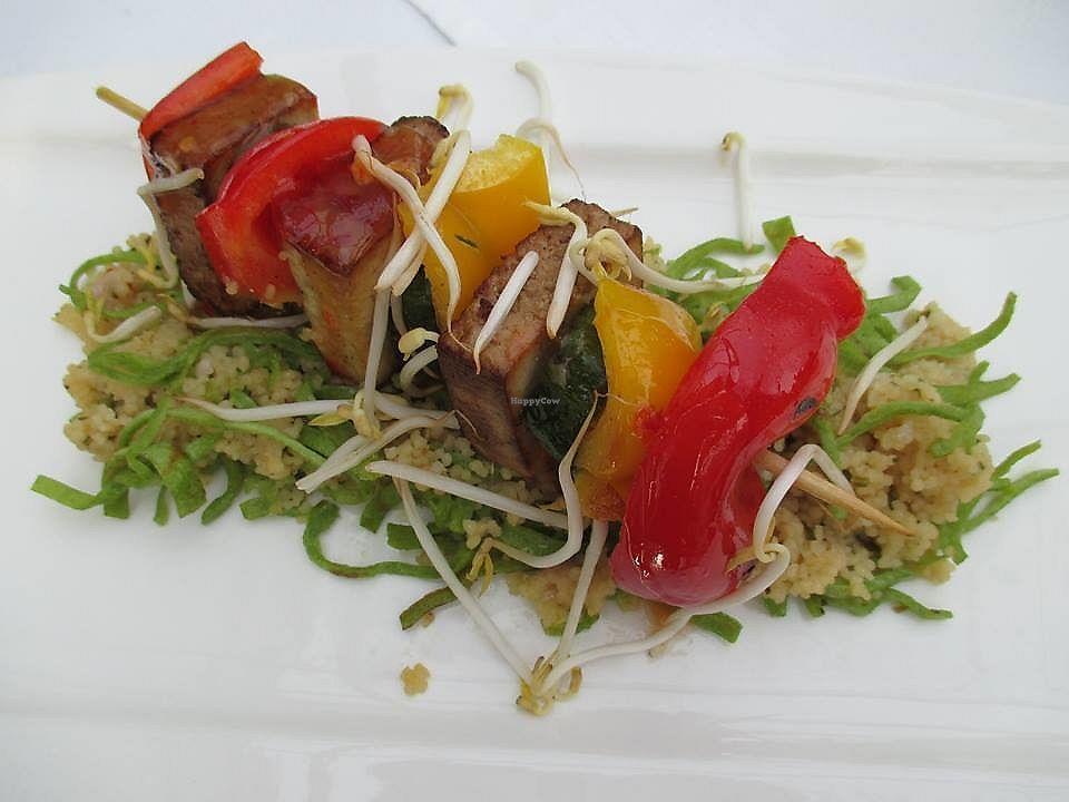 "Photo of Thermenrestaurant  by <a href=""/members/profile/ErnstNossek"">ErnstNossek</a> <br/>Vegetables-tofu skewer <br/> June 22, 2017  - <a href='/contact/abuse/image/94546/272247'>Report</a>"