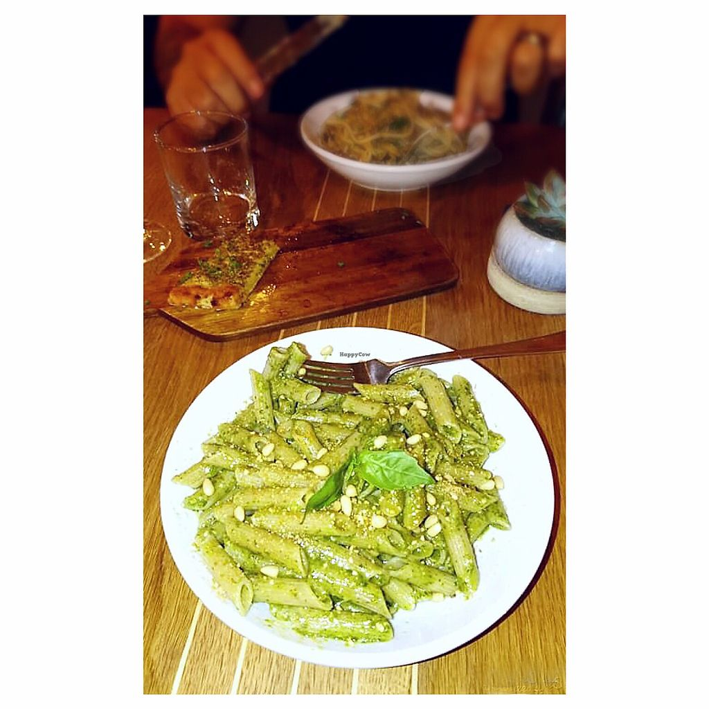 "Photo of The Flat  by <a href=""/members/profile/Fay84Vegan"">Fay84Vegan</a> <br/>Gluten Free Vegan Pesto Pasta & Walnut Pasta  <br/> November 24, 2017  - <a href='/contact/abuse/image/94597/328796'>Report</a>"