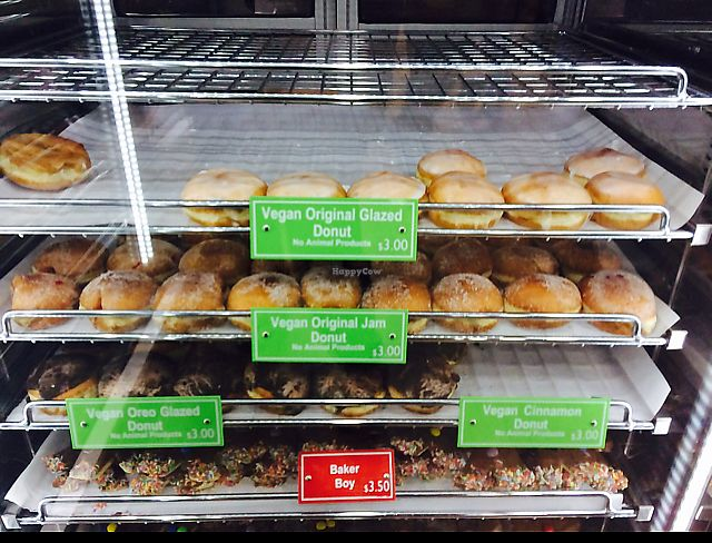 "Photo of Daniel's Donuts  by <a href=""/members/profile/NDVegan"">NDVegan</a> <br/>Various vegan donuts  <br/> June 24, 2017  - <a href='/contact/abuse/image/94629/272735'>Report</a>"