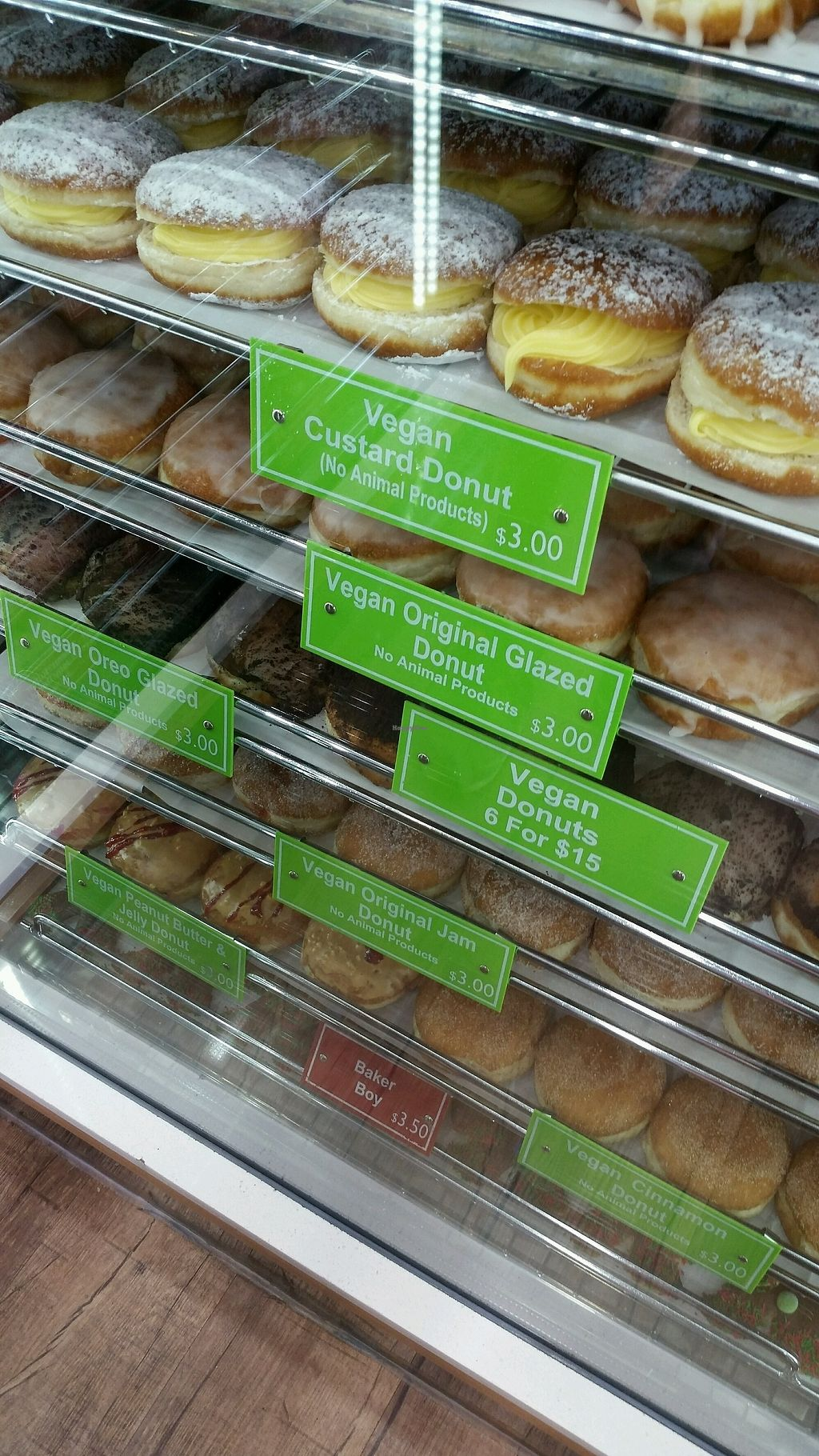 "Photo of Daniel's Donuts  by <a href=""/members/profile/Nikki1801"">Nikki1801</a> <br/>vegan section <br/> December 28, 2017  - <a href='/contact/abuse/image/94629/339814'>Report</a>"