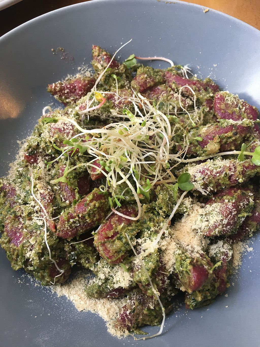 "Photo of CLOSED: Juicy Kuchnia Roslinna  by <a href=""/members/profile/Rucri"">Rucri</a> <br/>Beetroot Gnocchi with pesto  <br/> July 15, 2017  - <a href='/contact/abuse/image/94637/280608'>Report</a>"