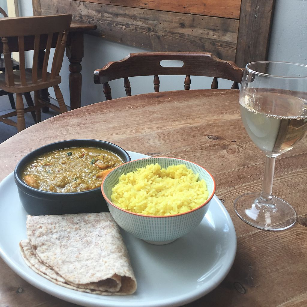 """Photo of Clock House  by <a href=""""/members/profile/ClairaHermet"""">ClairaHermet</a> <br/>sweet potato, spinach and red lentil dhal  <br/> June 25, 2017  - <a href='/contact/abuse/image/94643/273221'>Report</a>"""