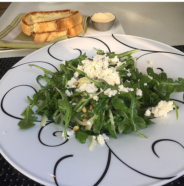 """Photo of Wynn Hotel - Jardin  by <a href=""""/members/profile/happycowgirl"""">happycowgirl</a> <br/>vegan ricotta and pine nut salad  <br/> June 28, 2017  - <a href='/contact/abuse/image/94650/274220'>Report</a>"""