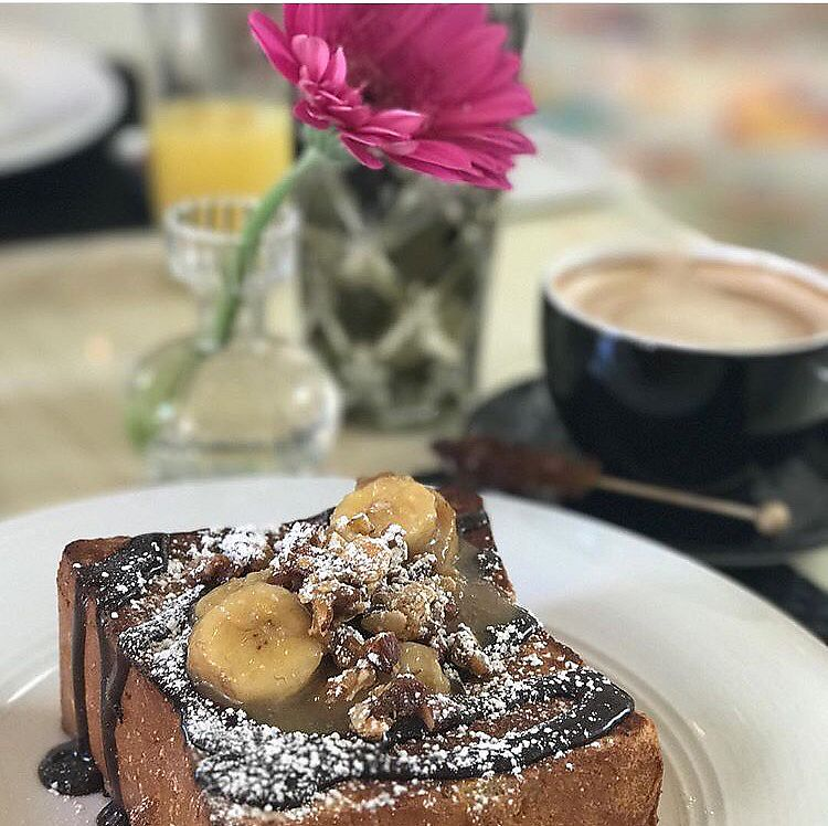 """Photo of Wynn Hotel - Jardin  by <a href=""""/members/profile/happycowgirl"""">happycowgirl</a> <br/>caramelized banana French toast (vegetarian)  <br/> June 28, 2017  - <a href='/contact/abuse/image/94650/274227'>Report</a>"""